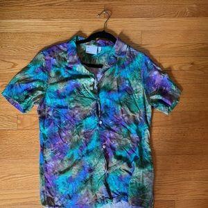 ASOS tie dye button up